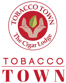TOBACCO TOWN – The Cigar Lodge Sticky Logo